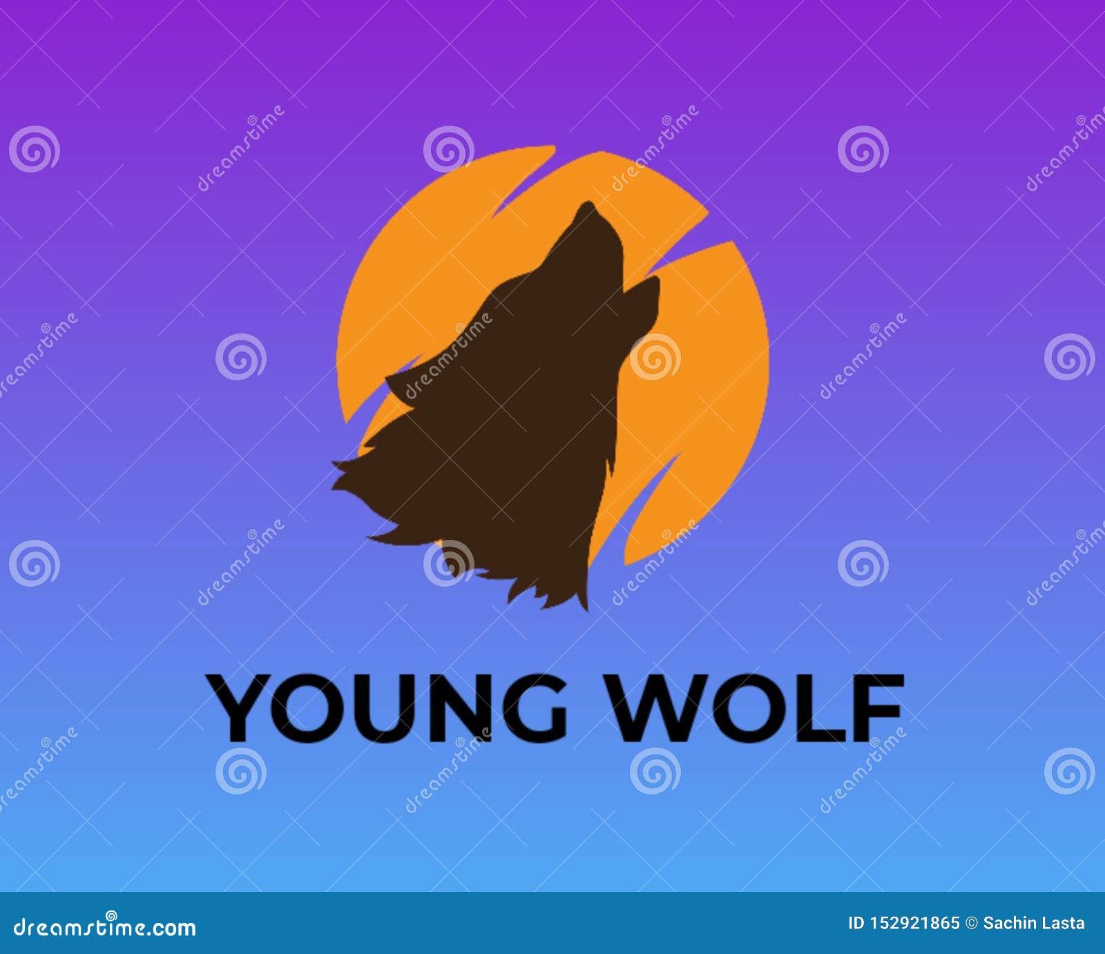 Logo för websites och ung varg för bloggar