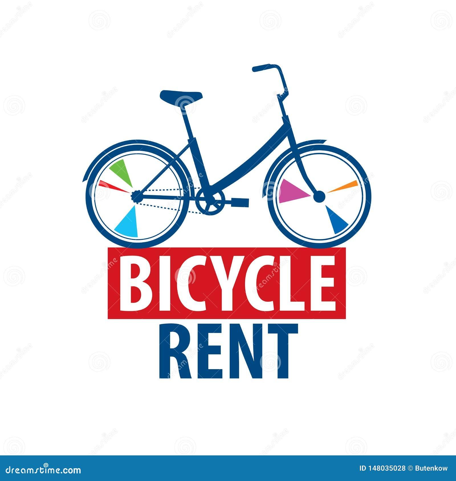 Logo f?r cykelhyra white f?r vektor f?r bakgrundsillustrationhaj