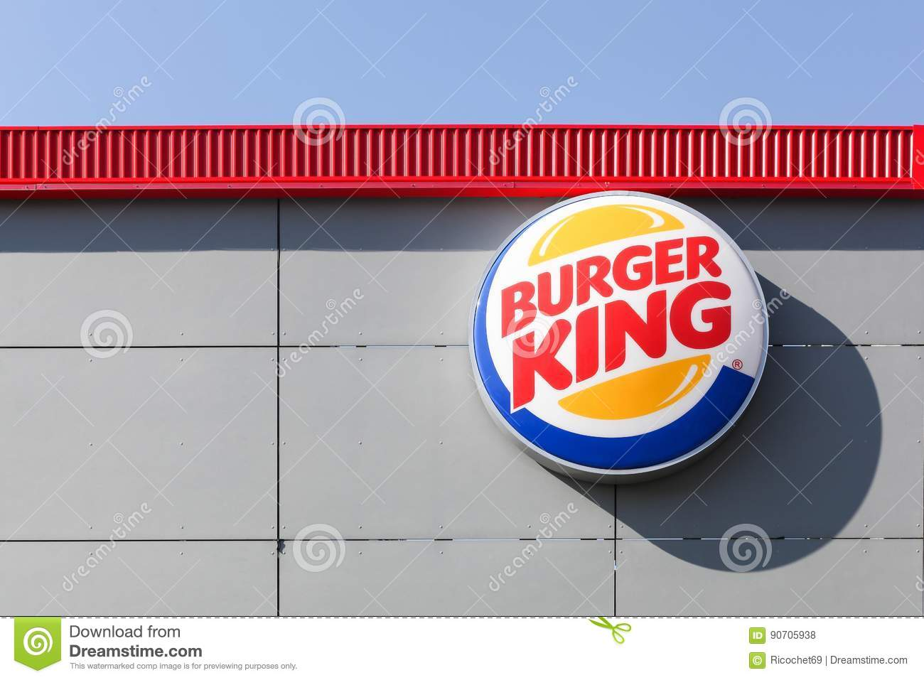 Logo Of The Fast Food Chain Burger King Editorial Stock