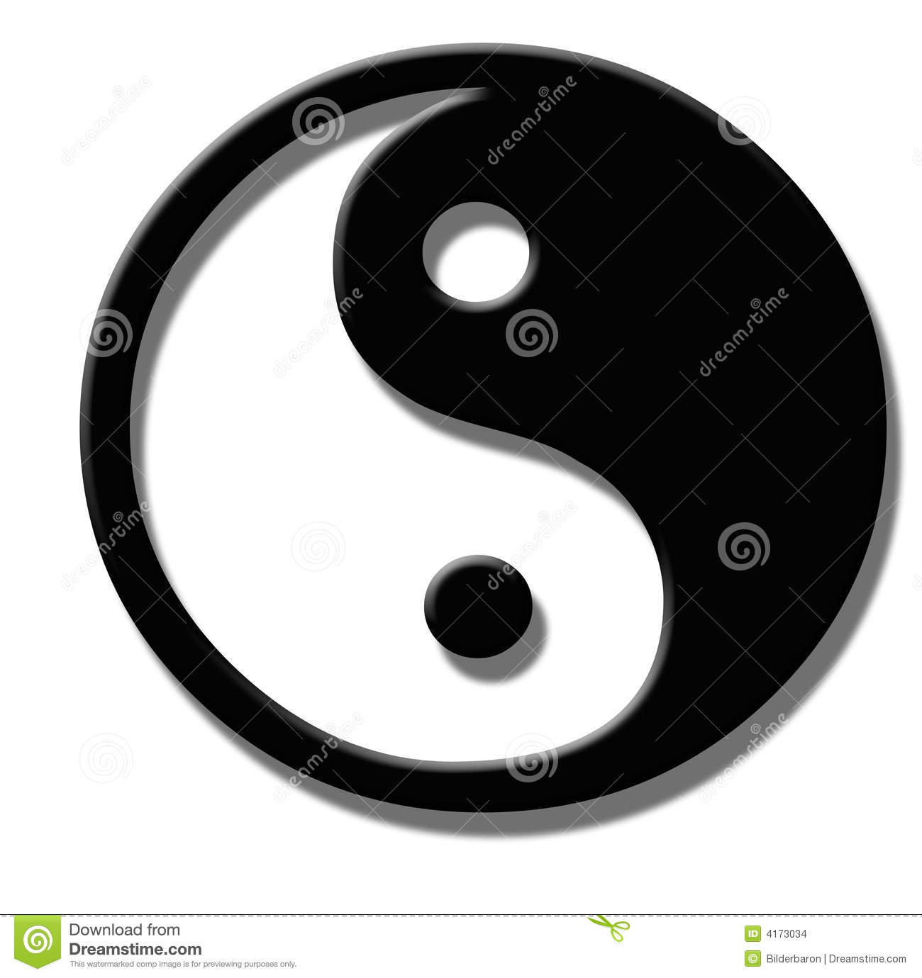 logo feng shui illustration stock image du yang symbole 4173034. Black Bedroom Furniture Sets. Home Design Ideas