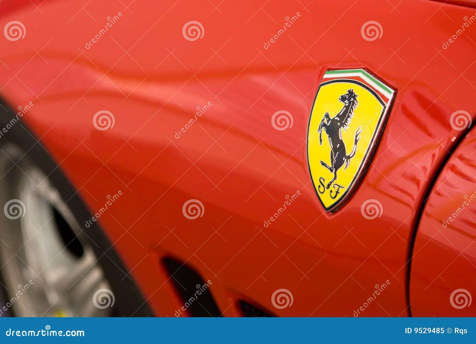 Logo Of Ferrari On Sport Car Editorial Image Image Of Show