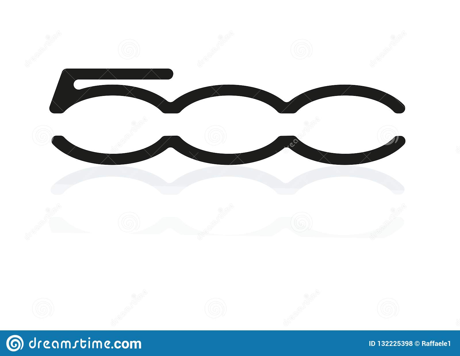 Logo Fiat 500 Foto De Stock Editorial Ilustracao De Vetor 132225398