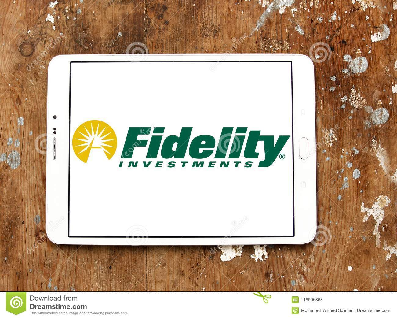 Fidelity Investments Company Logo Editorial Stock Photo - Image of
