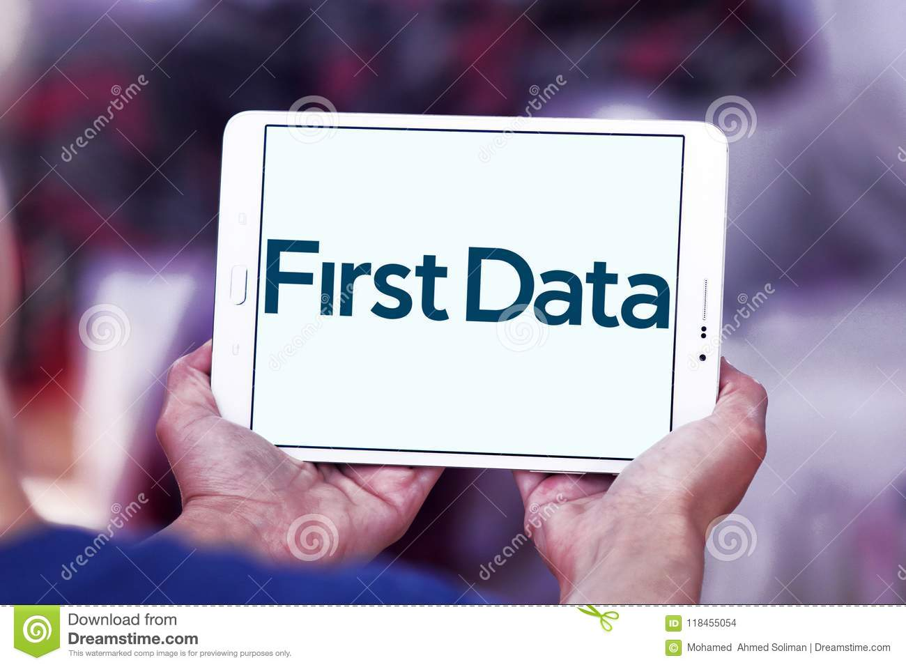 First Data Corporation Logo Editorial Stock Image Image Of
