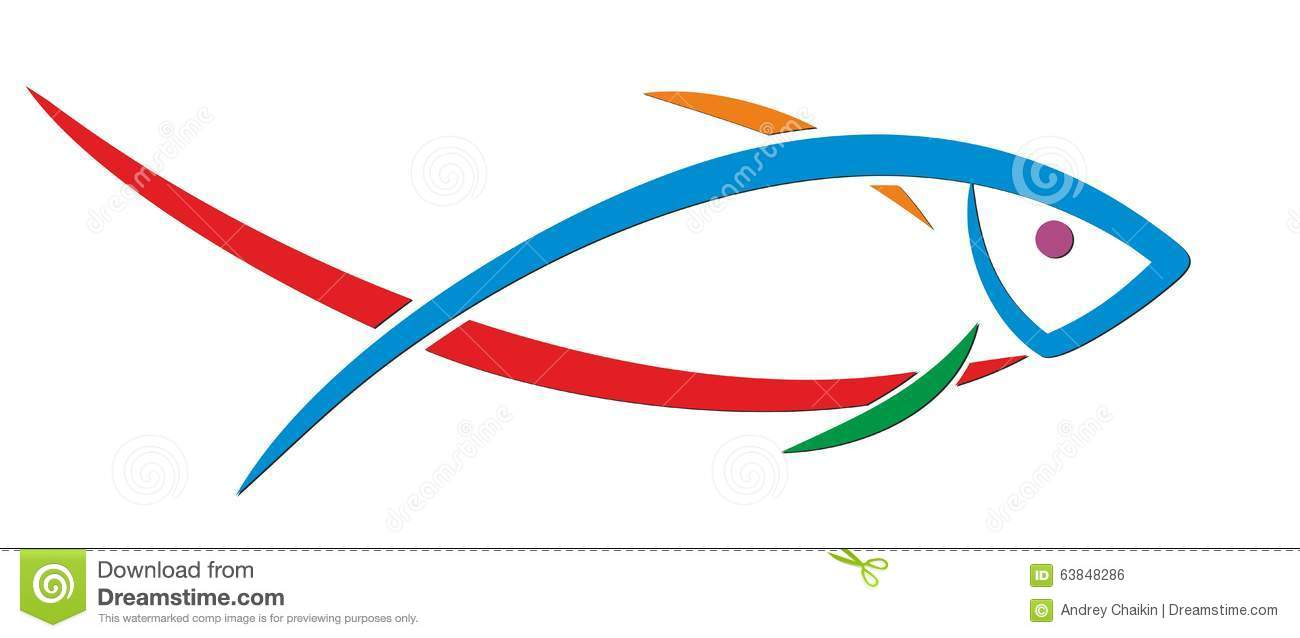 Logo Fish. Stock Vector - Image: 63848286
