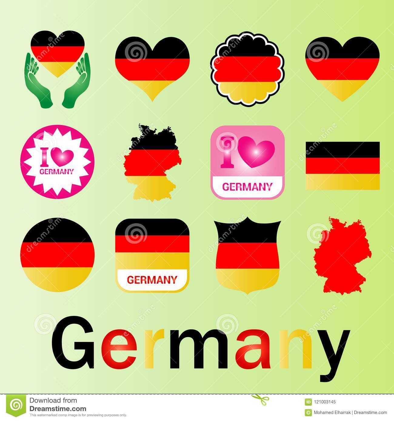 Logo Flag Map Group Of Germany Stock Vector - Illustration of ...