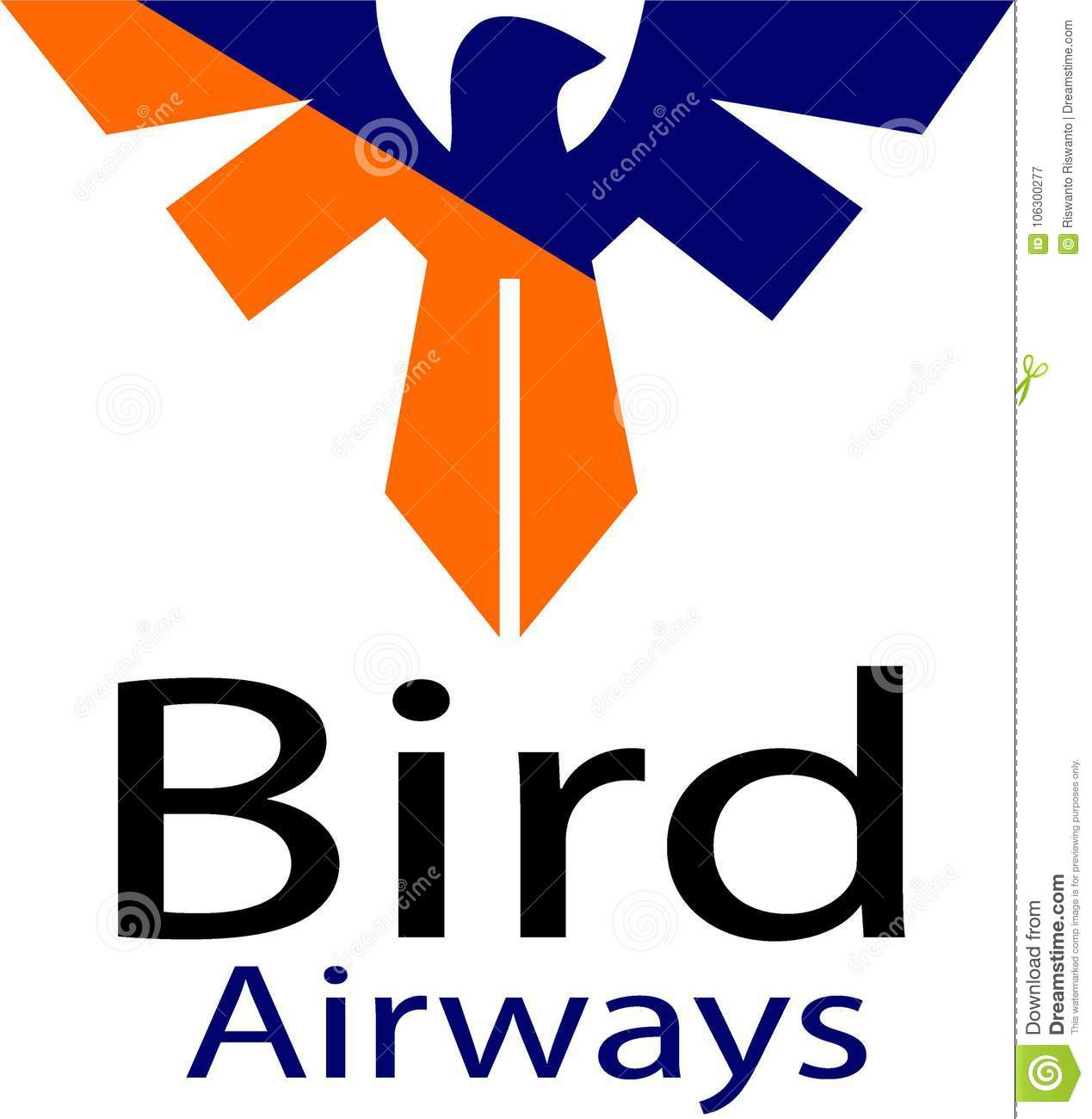 Bird airways and logo template