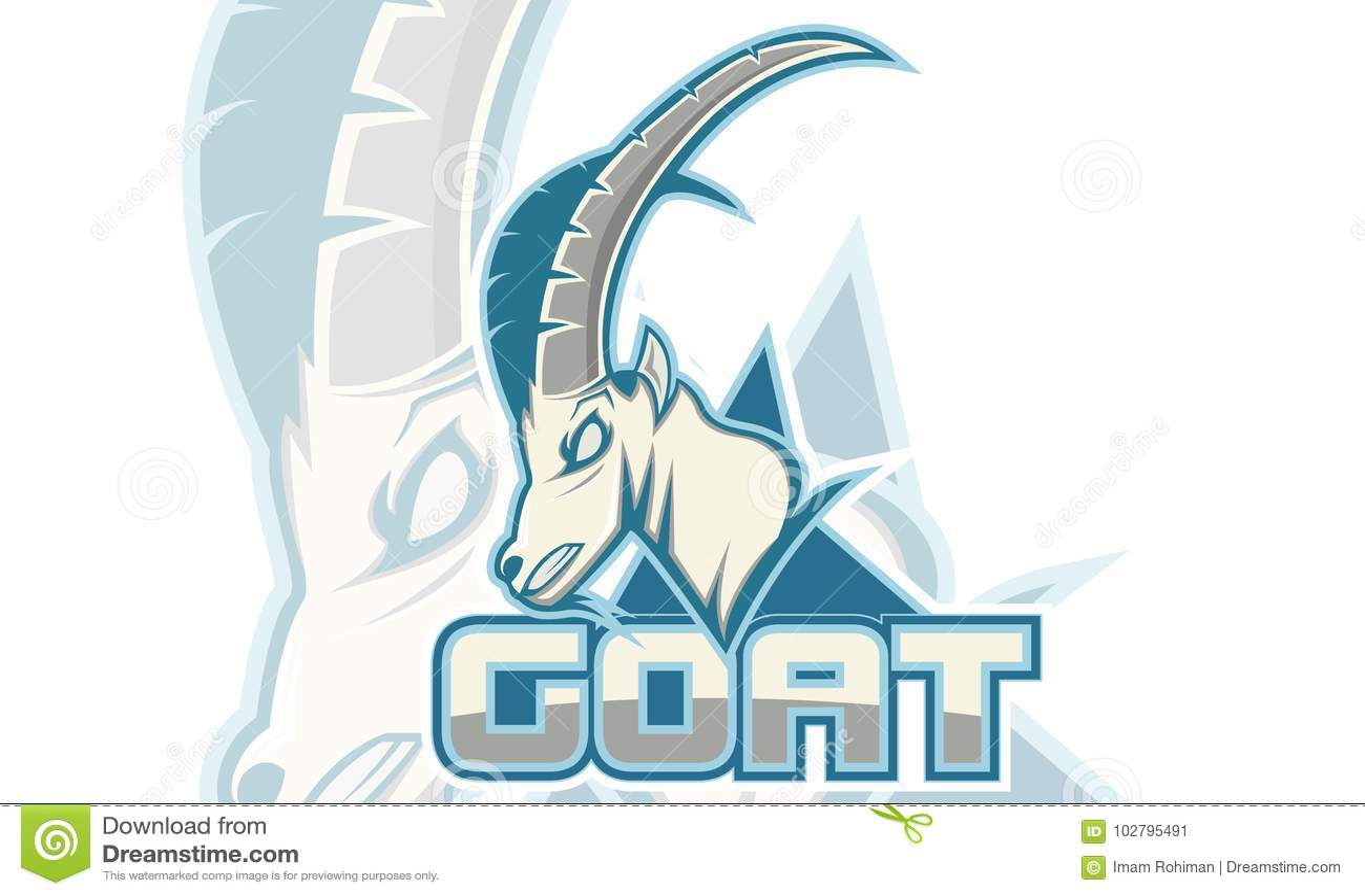 Logo Games Inspirations, logotipo da cabra, cor branca do fundo, Logo Games Sport
