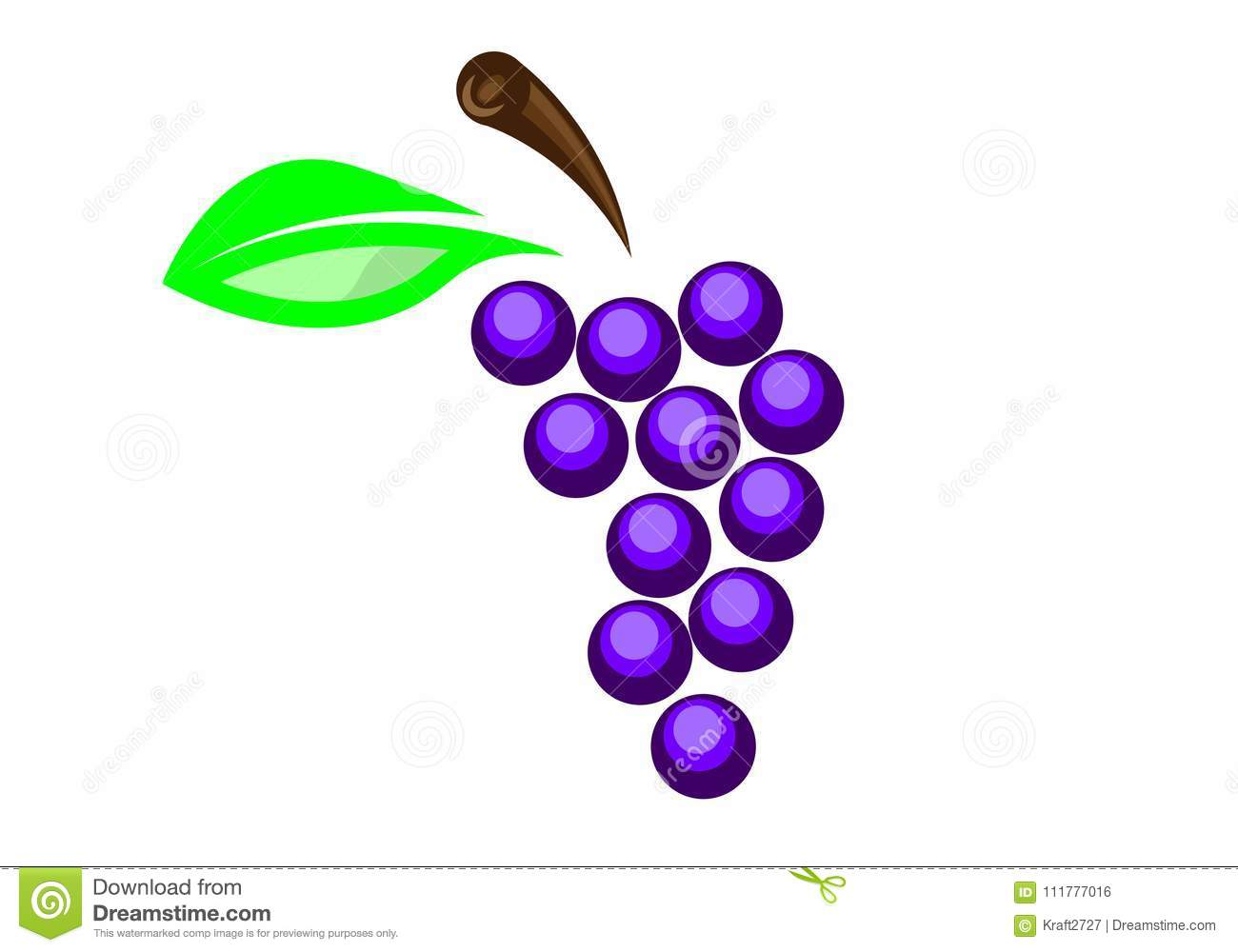 Logo of the grapes in a flat design