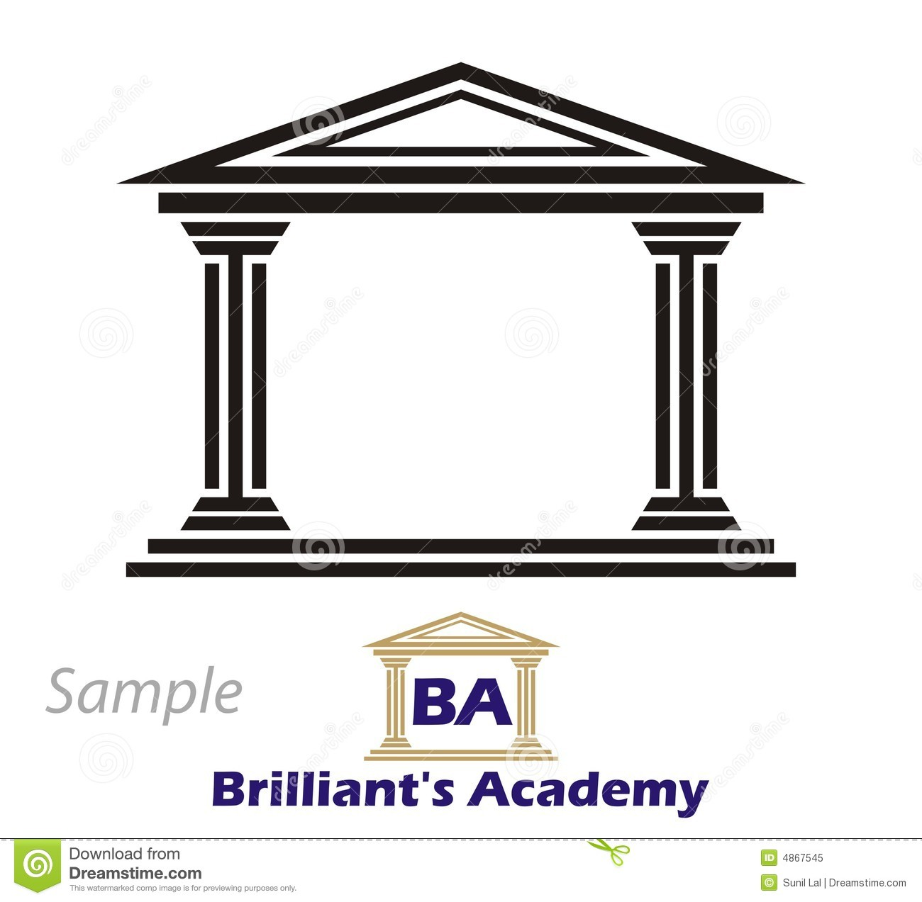 Logo Greek Collegium Royalty Free Stock Photo Image