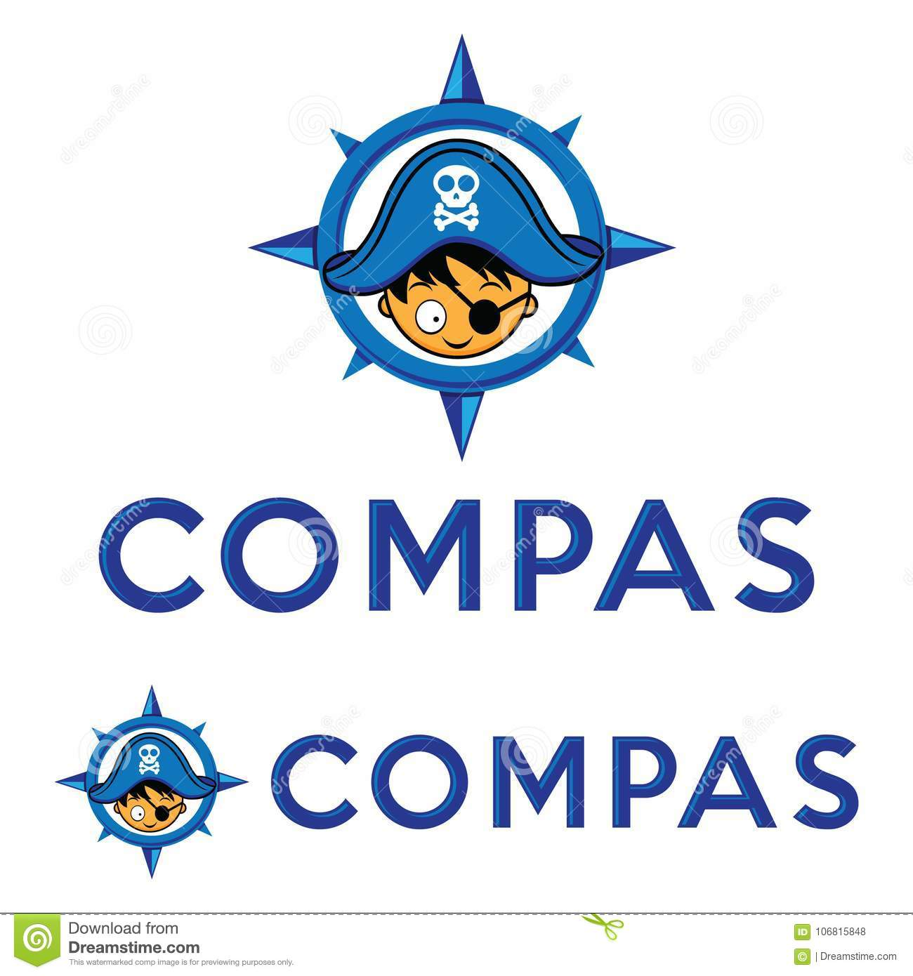 2fc38bb1 Logo head pirate with compass, pirate captain hat logo vector eps format  and jpg.