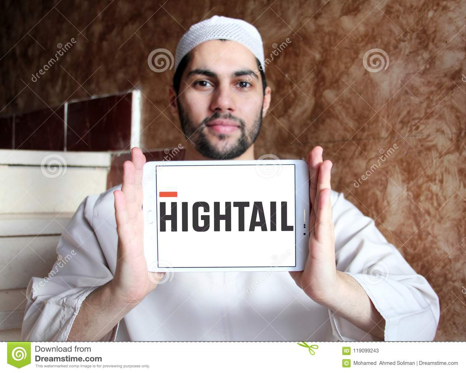 Hightail technology logo editorial stock photo  Image of