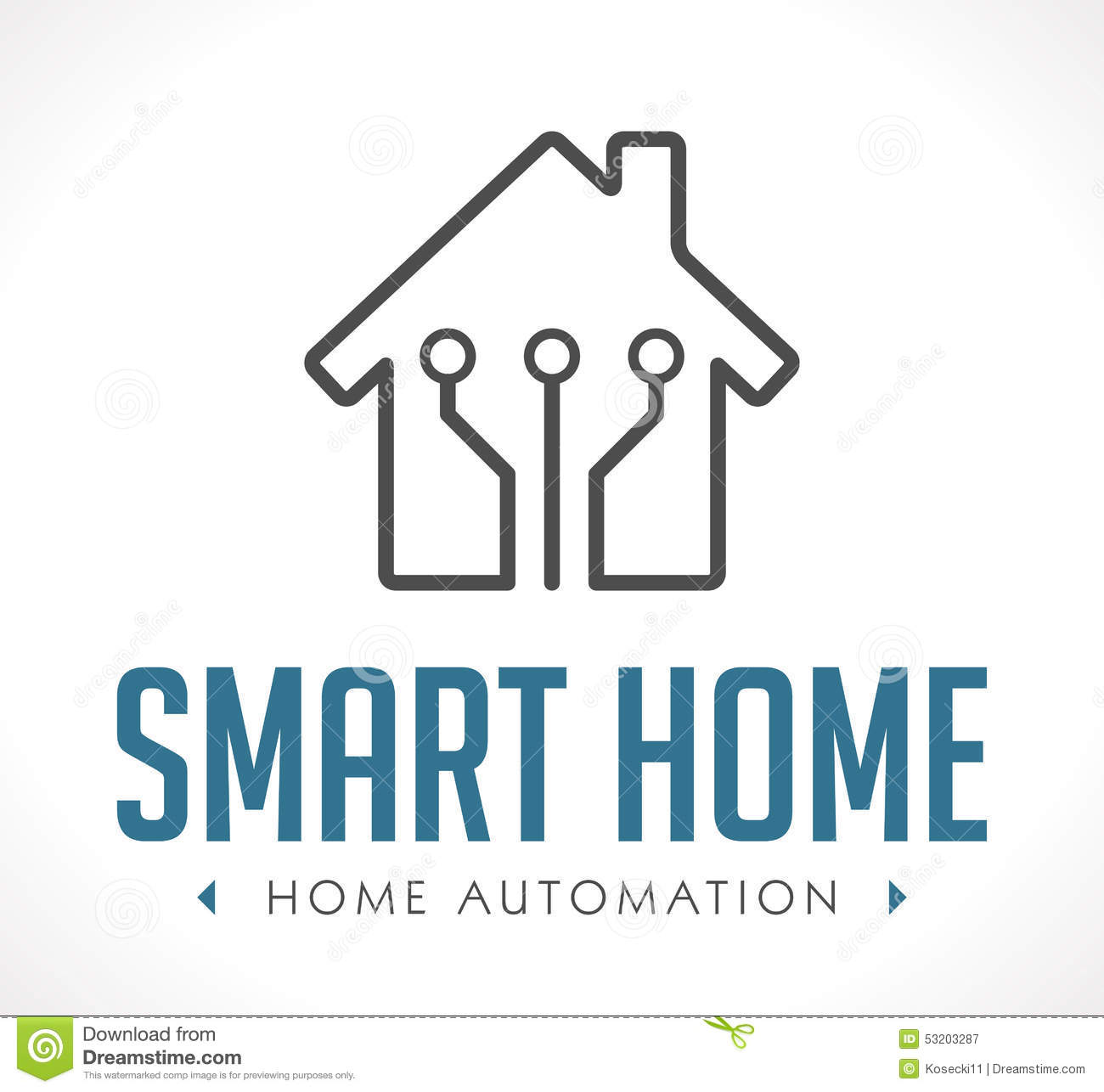 Logo home automation stock vector image 53203287 for Smart home automation