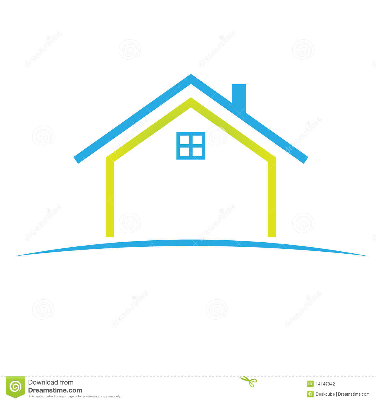 Logo home in nice colors and detail