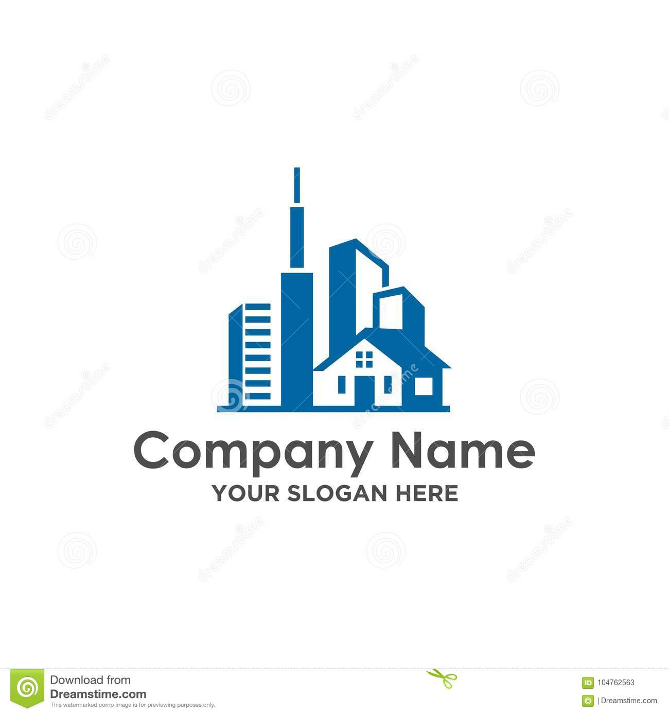 Real Estate And Construction House Building Logo Vector