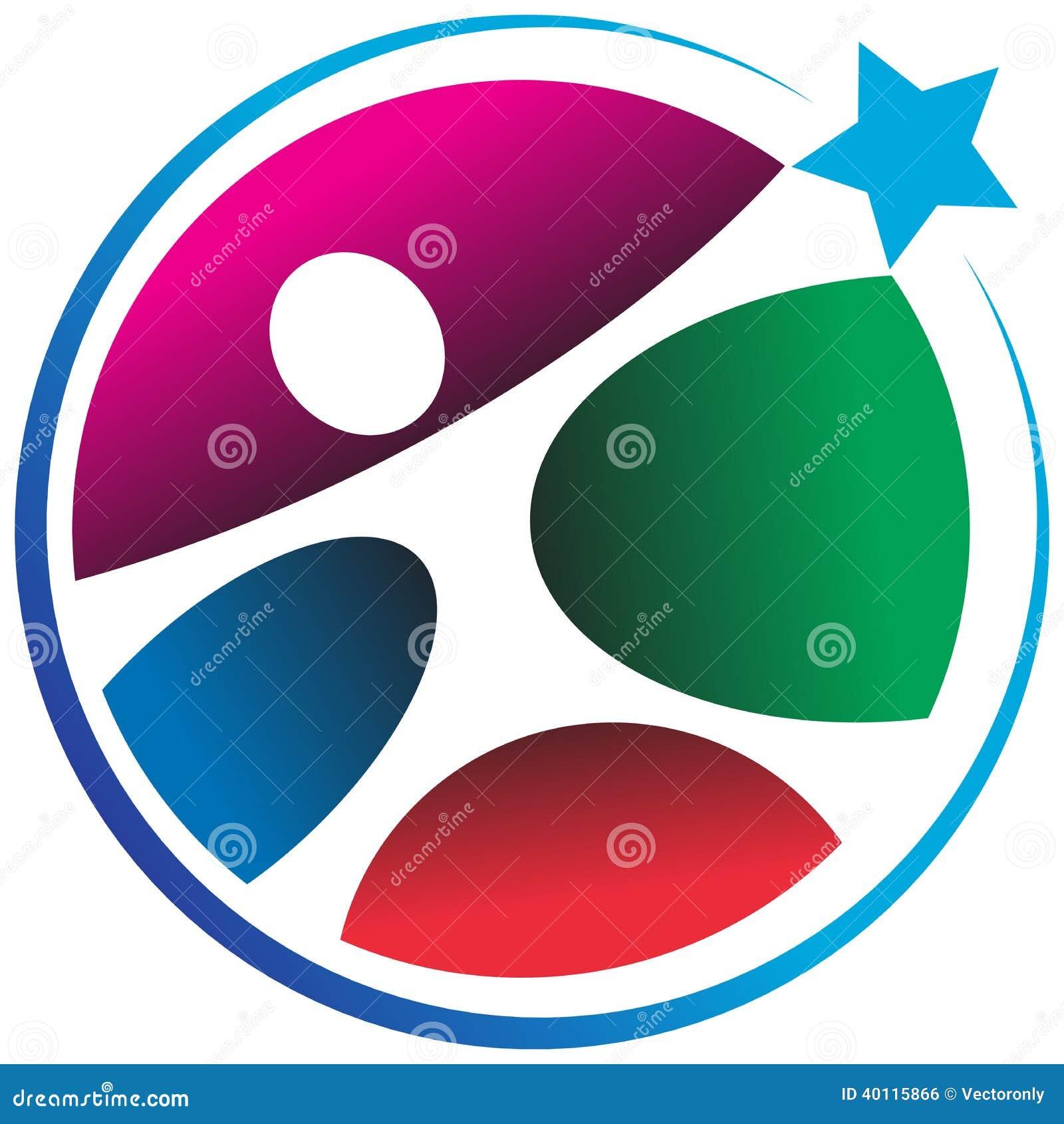 Logo humain d étoile