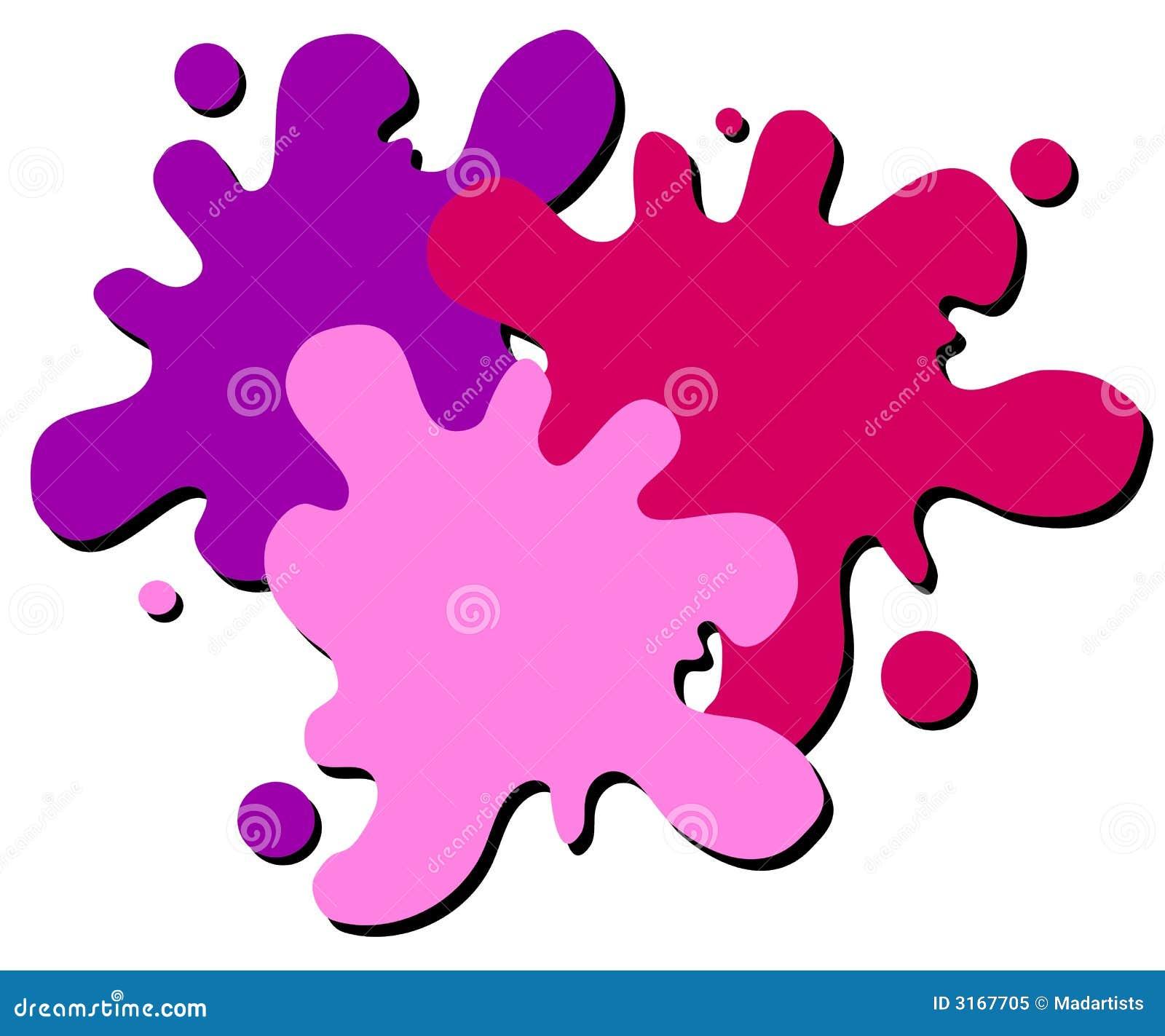 Logo humide de Web d éclaboussure de peinture