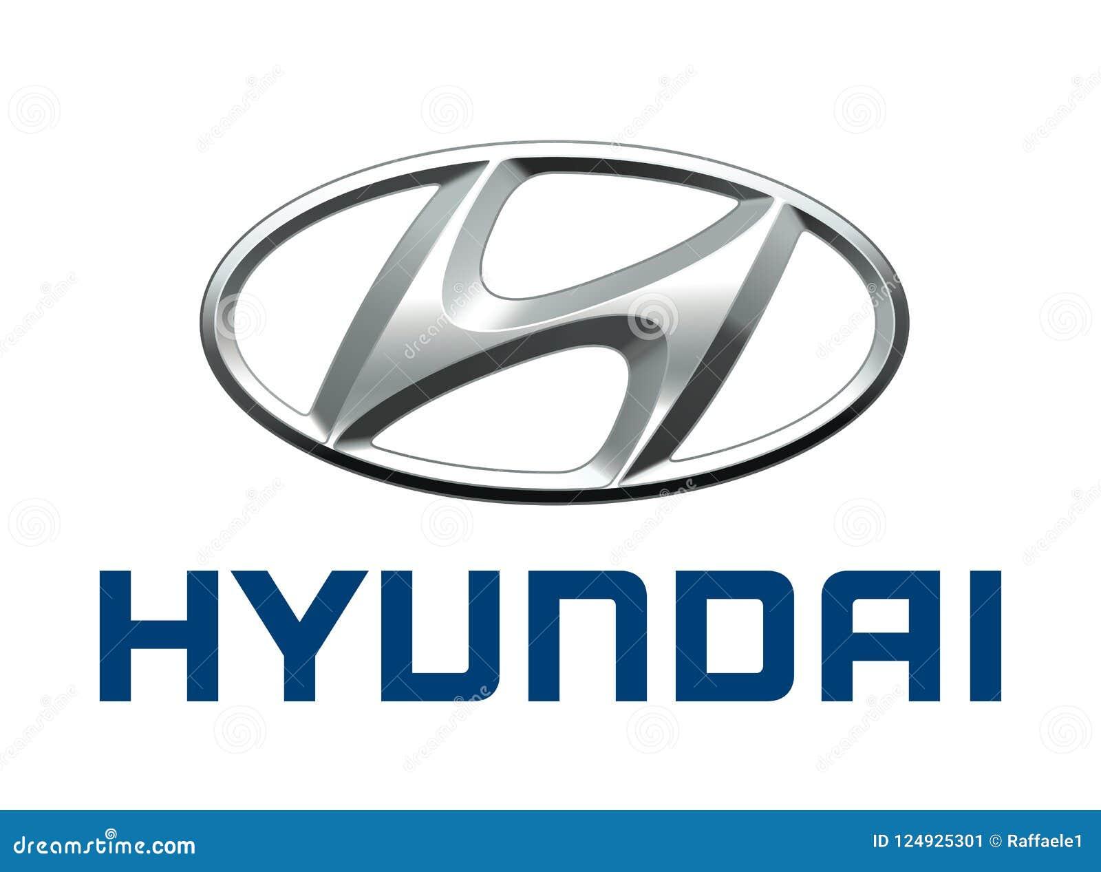Logo Hyundai Redactionele Foto Illustratie Bestaande Uit Formaat
