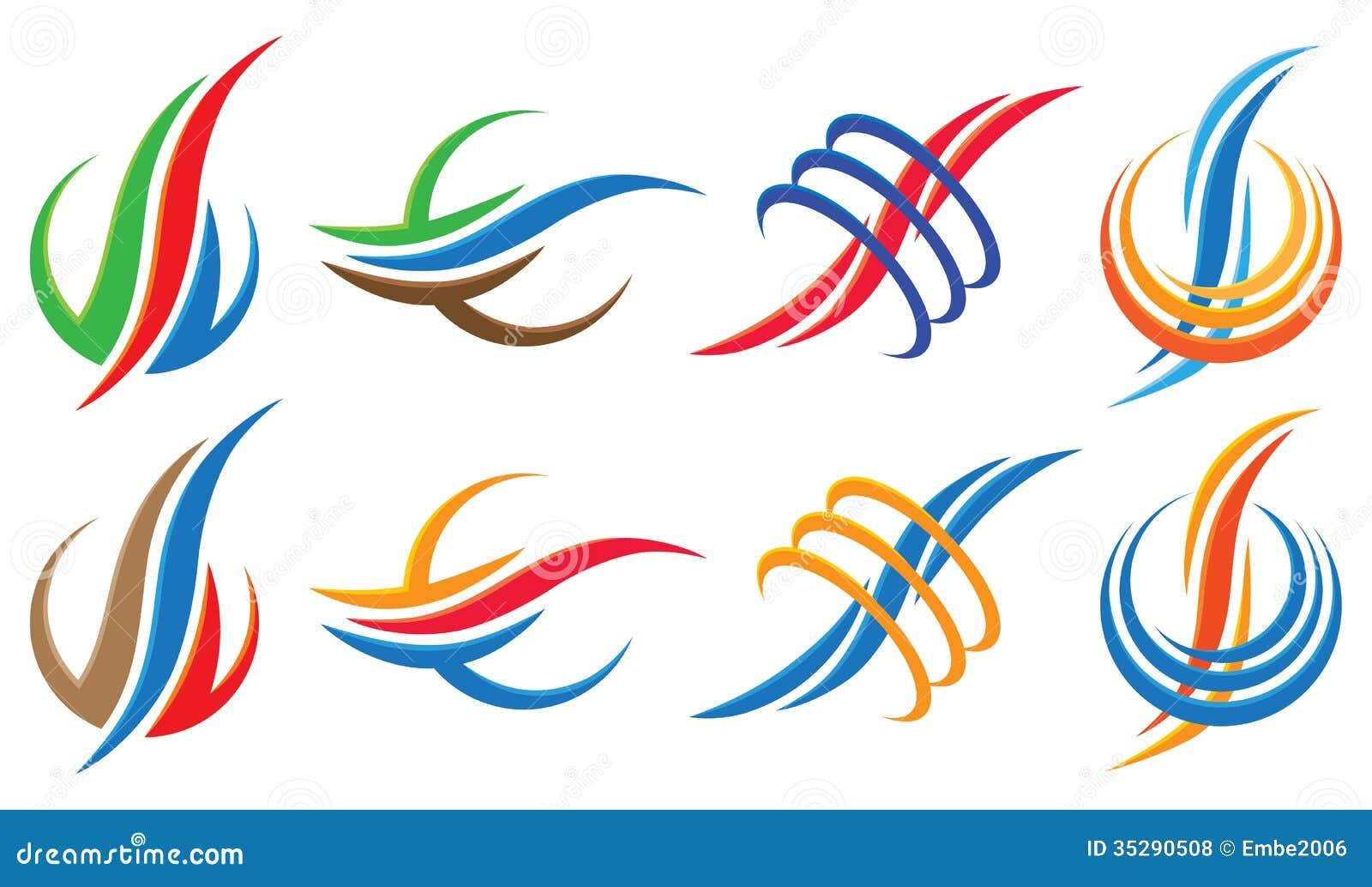 Logo Icon Set ondulato