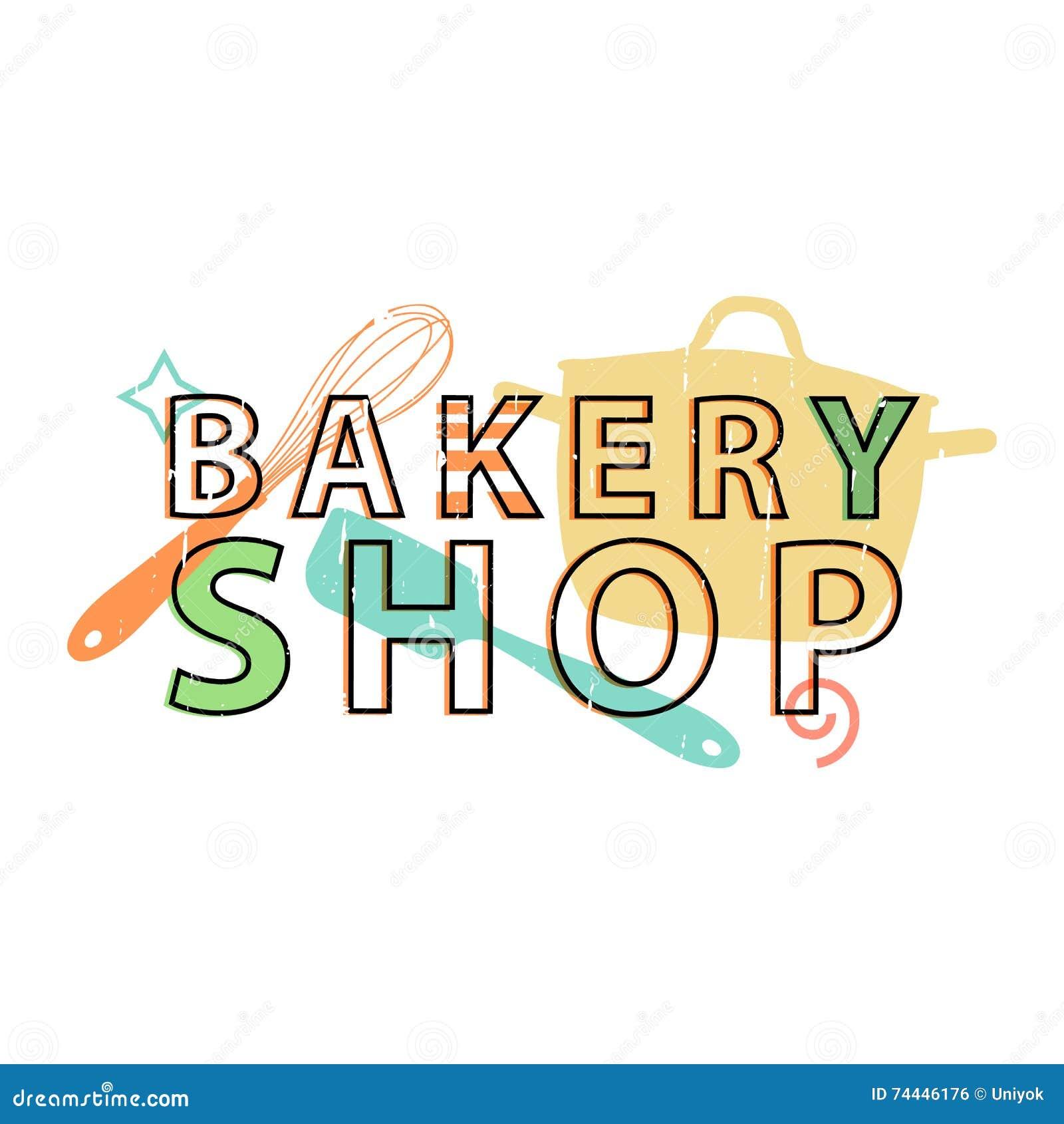 Logo, Icon, Stamp, Emblem Bakery Shop. Logo Bakery In Retro Style