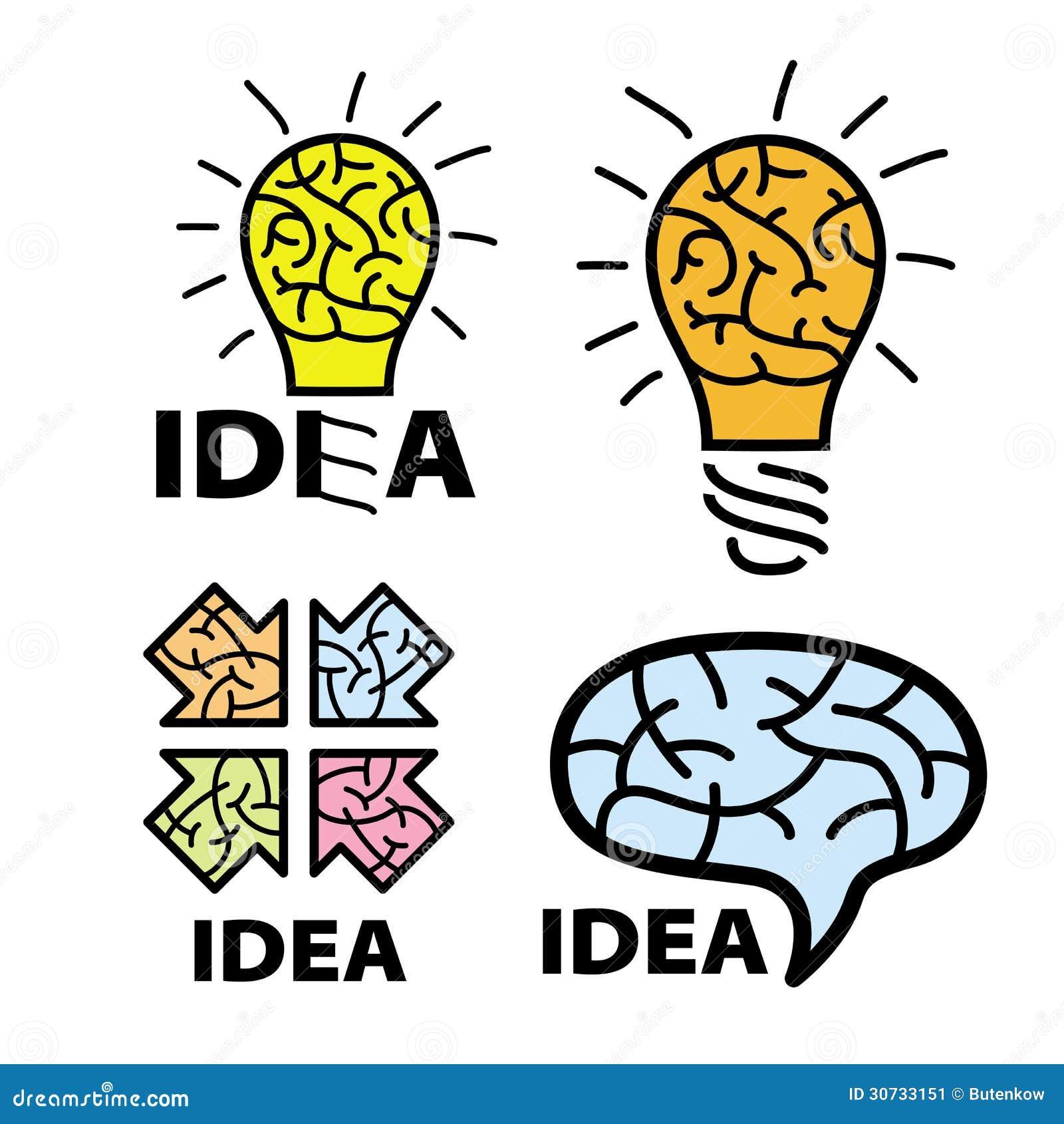 Logo Idea Stock Image