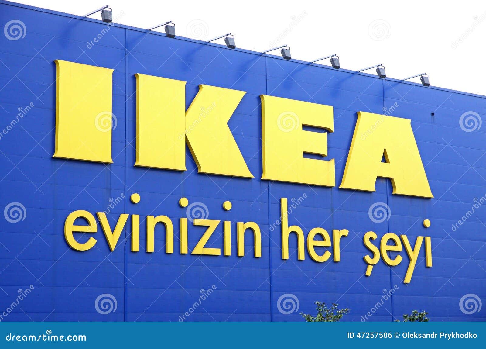 Logo of ikea store in istanbul editorial photo image 47257506 - Ikea wanduhr turkis ...