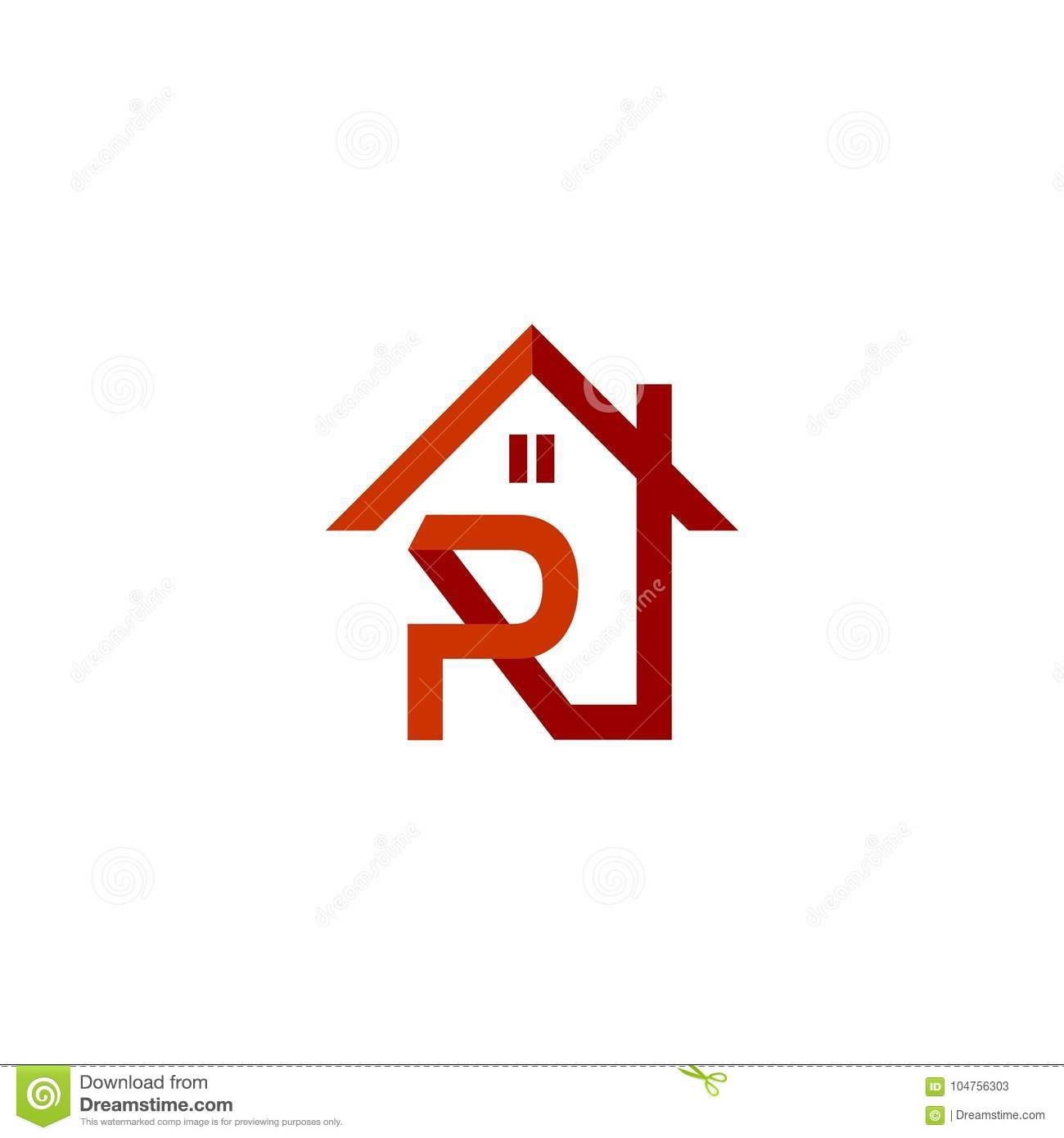 Logo initial letters r roof home real estate construction stock logo initial letters r roof home real estate construction buycottarizona Image collections
