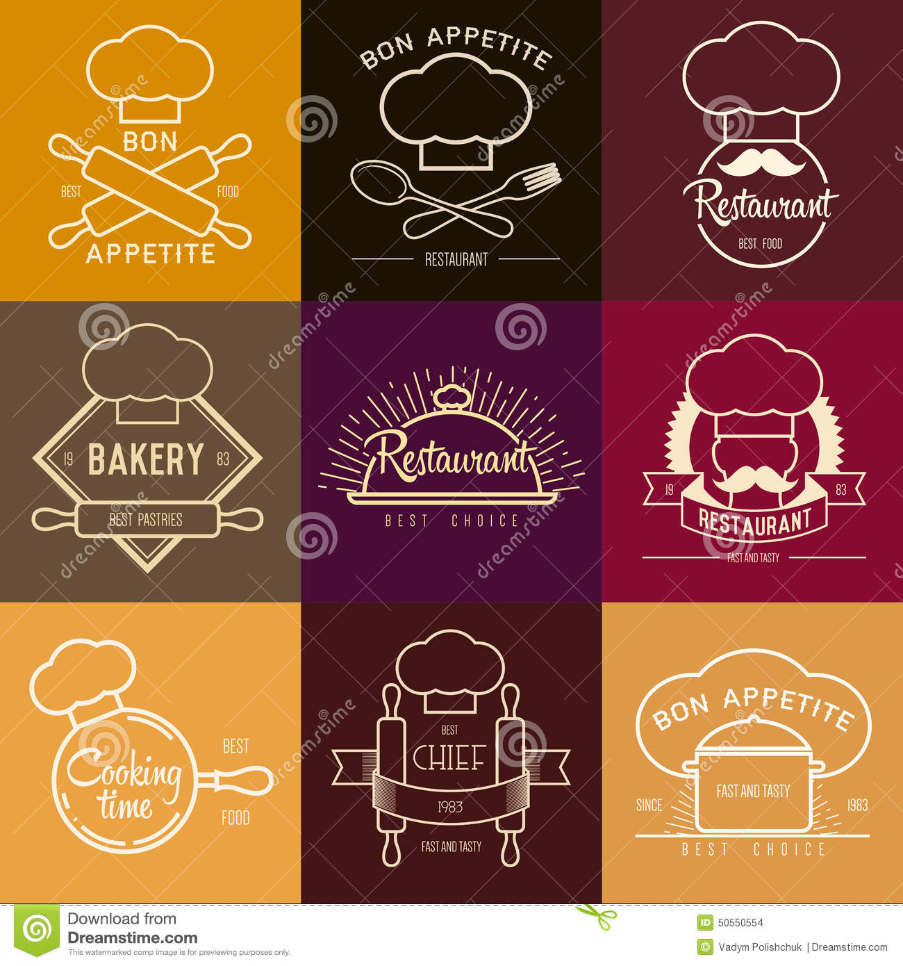 Logo inspiration for restaurant or cafe vector