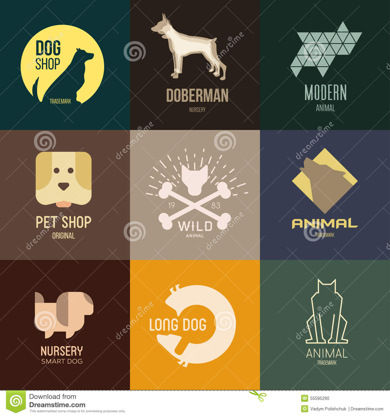 logo inspiration for shops companies advertising with