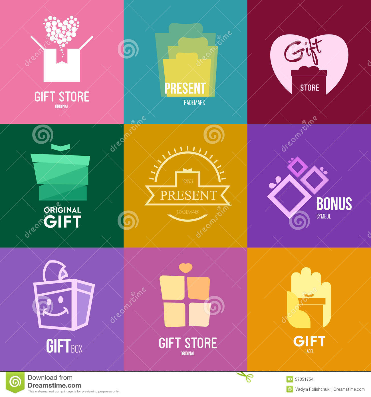 logo inspiration for shops companies advertising or