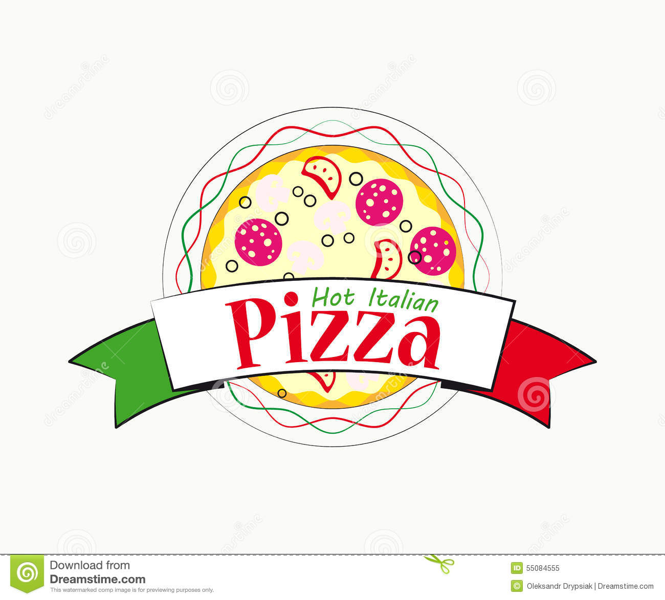 Logo italian pizza for cafe and restaurant stock vector download comp reheart Choice Image