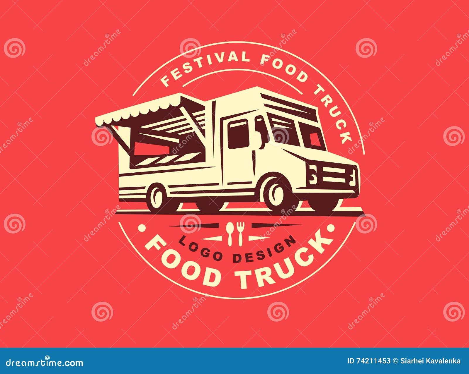 Logo jedzenie ciężarówka