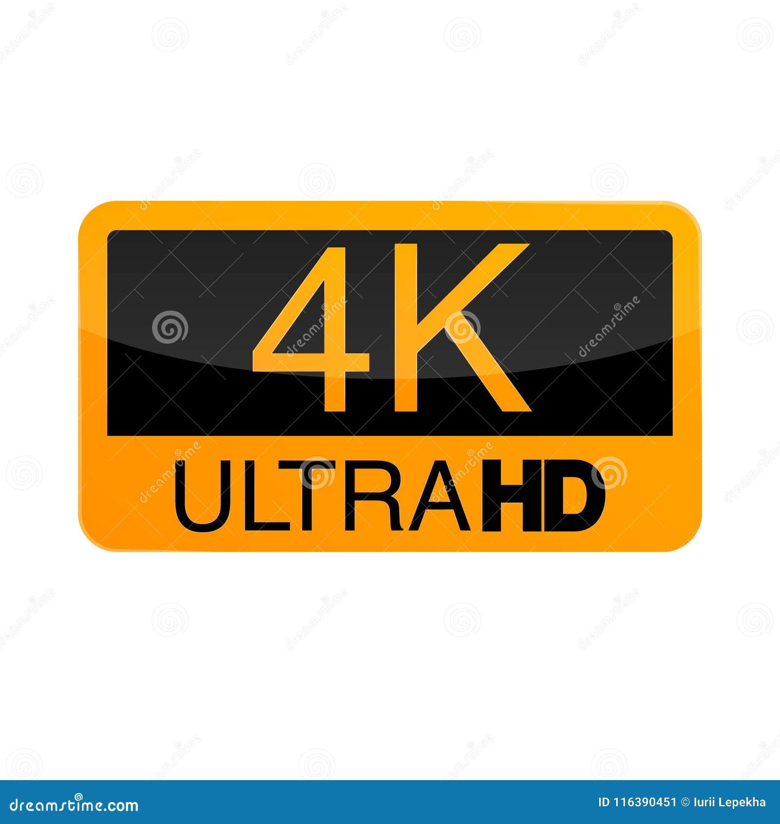 Logo 4k Ultra Hd Vector Illustration Of 4k Video