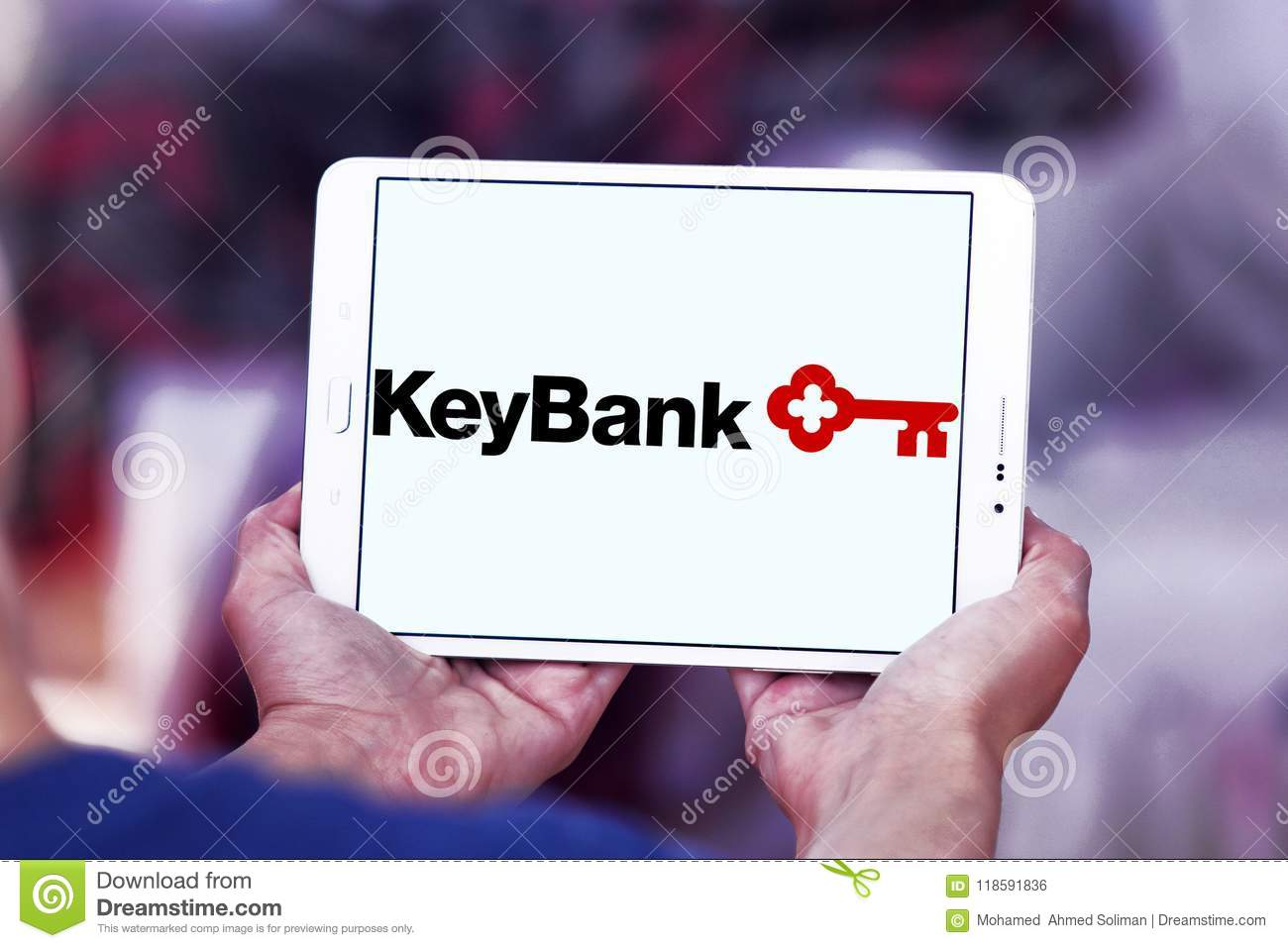 KeyBank logo editorial photo  Image of commercial, editorial