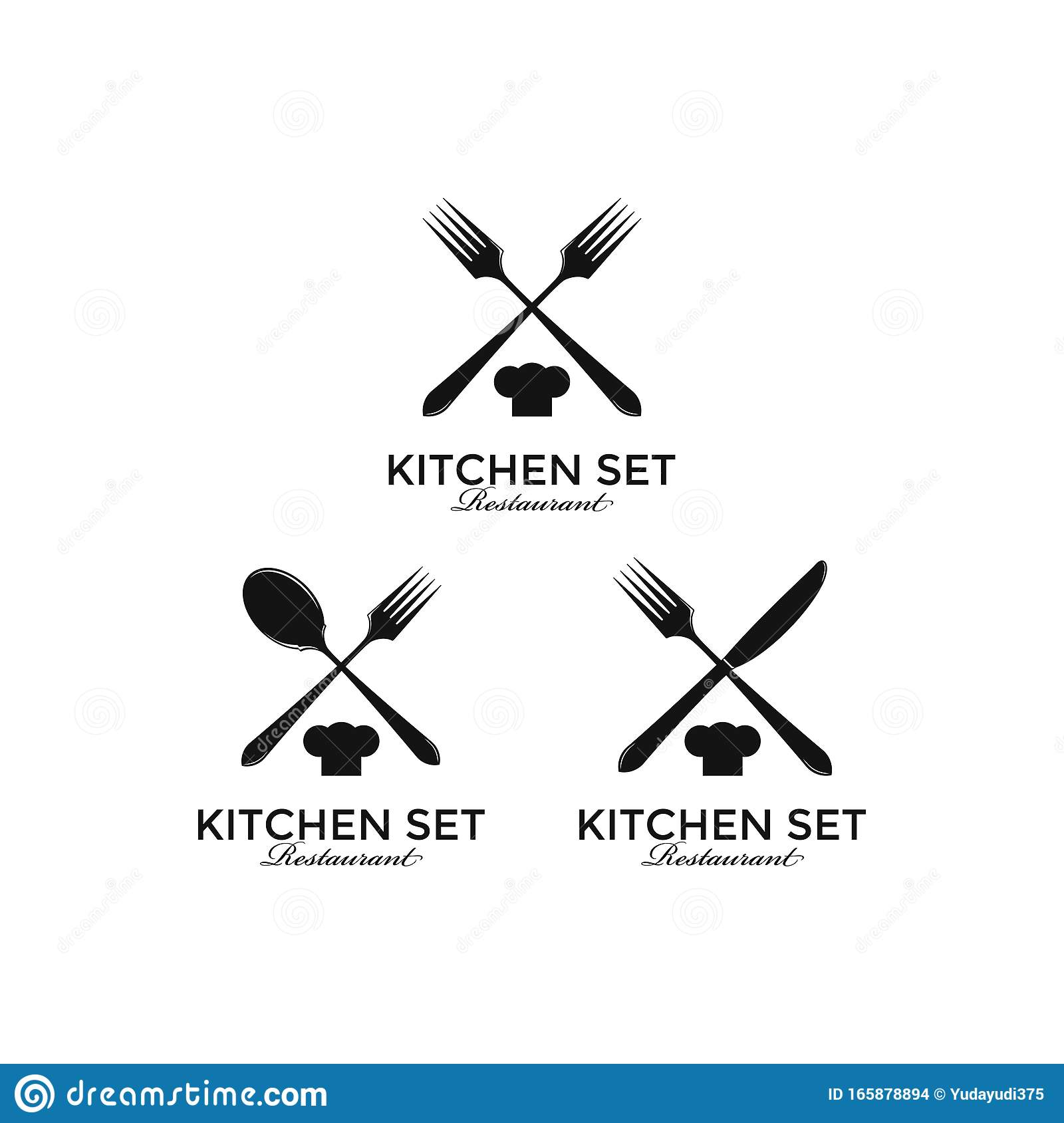 Logo Kitchen Gourmet Rustic Apron Bakery Bar Cafe Catering Chef Cluttery Cook Cooking Cuisine Culinary Cutlery Stock Vector Illustration Of Cafe Culinary 165878894