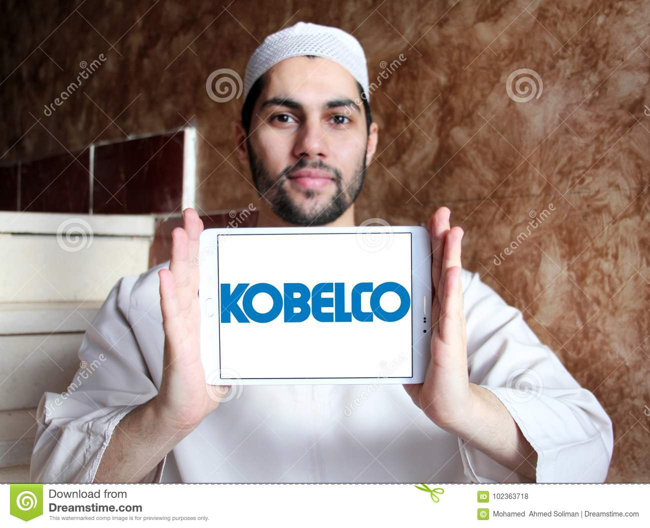 Kobelco steel company logo editorial stock photo  Image of