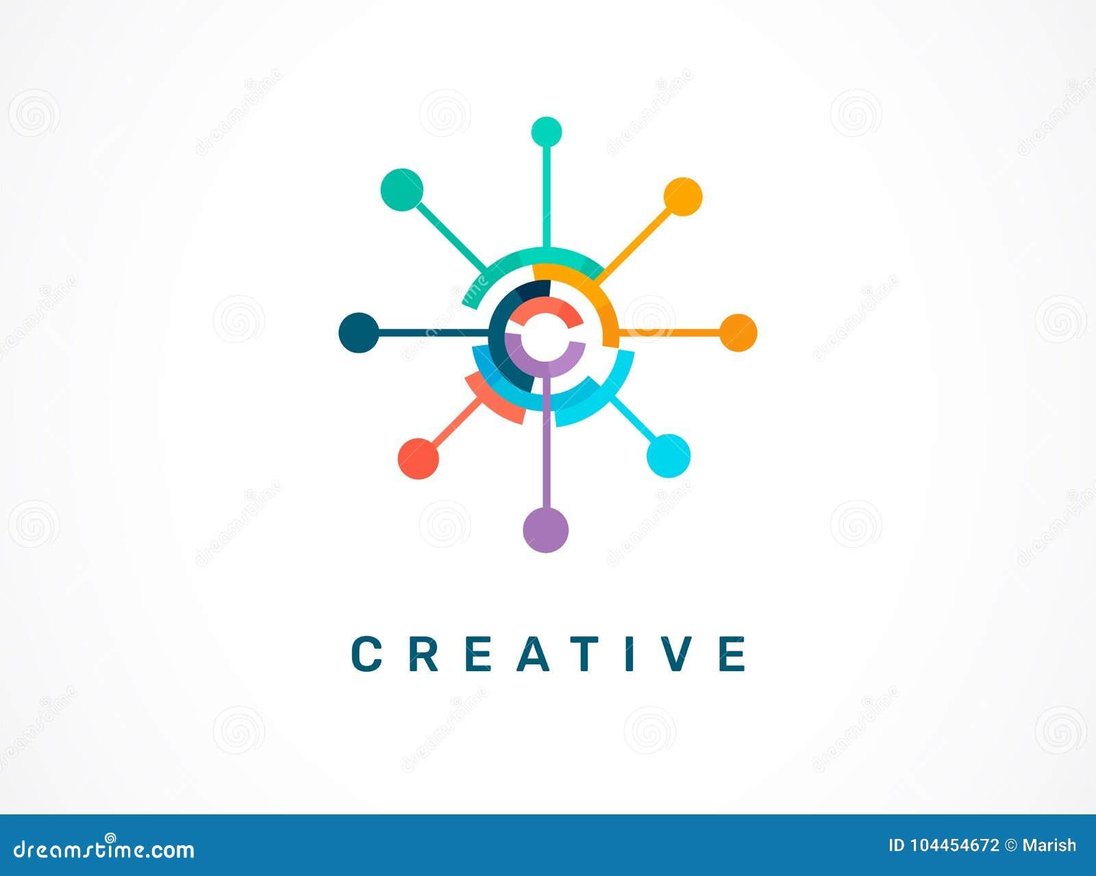 Logo - kreativ, Technologie, Technologieikone und Symbol