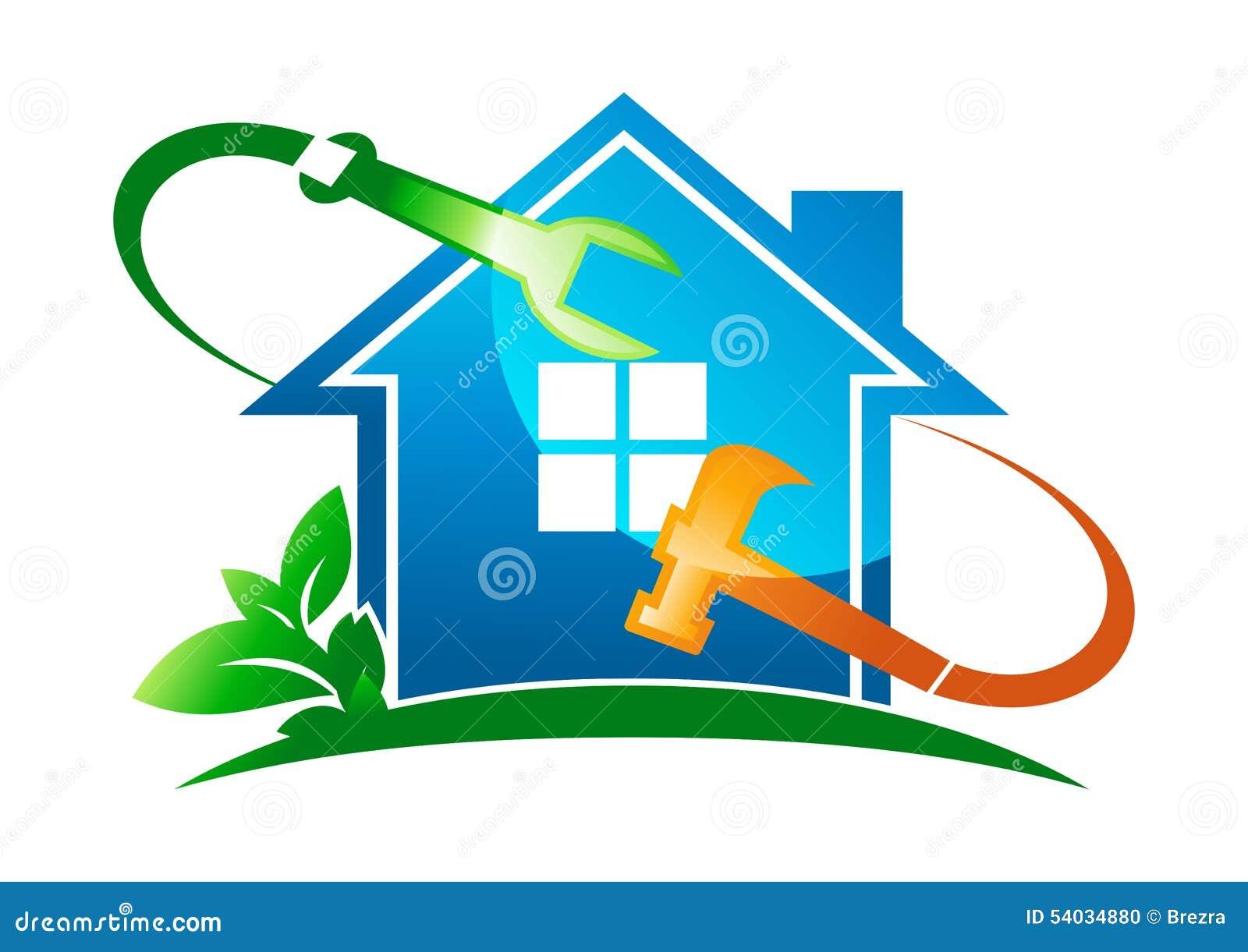 Logo 224 La Maison De Service Illustration De Vecteur