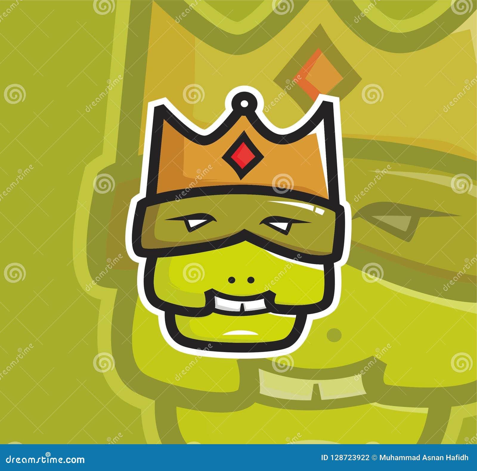 Logo laid de mascotte de roi