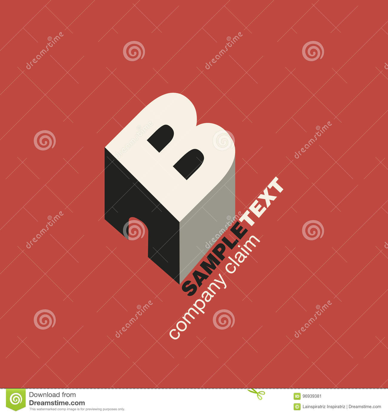 Logo Letter B In Isometric Perspective  Building  Stock Illustration