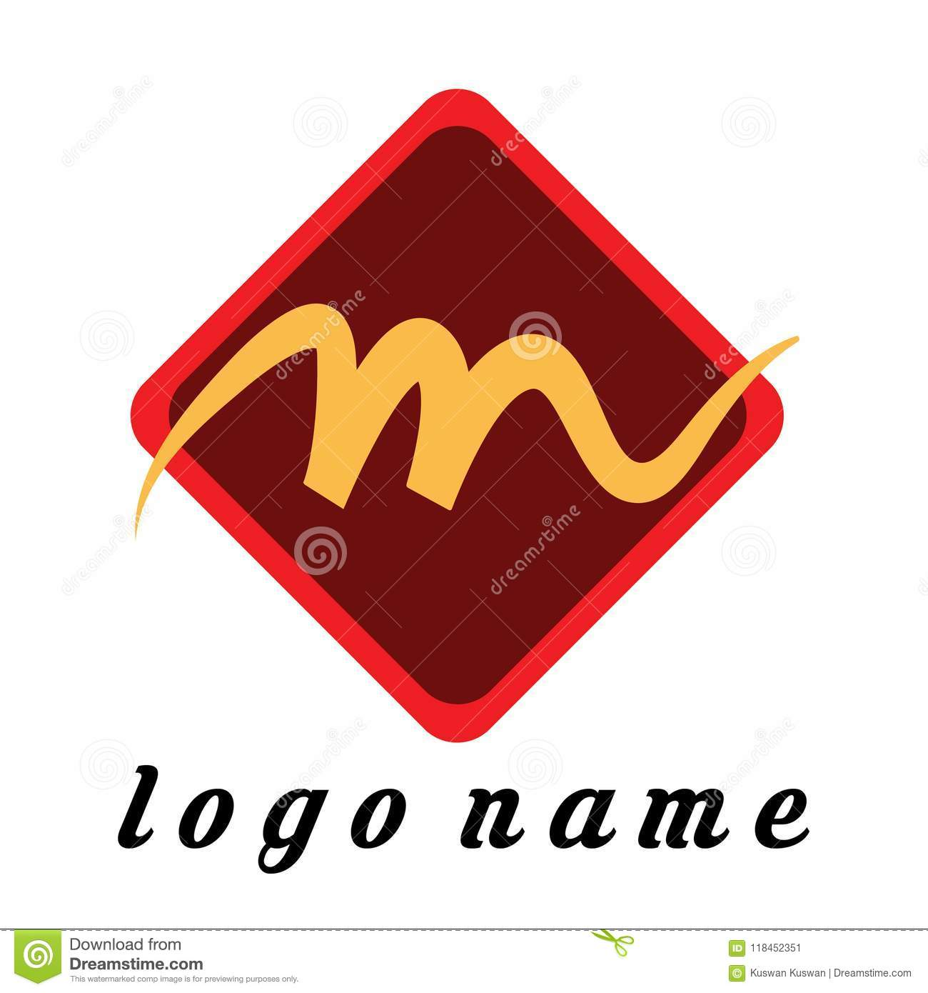 logo letter m in the box template logo for company or store optcal