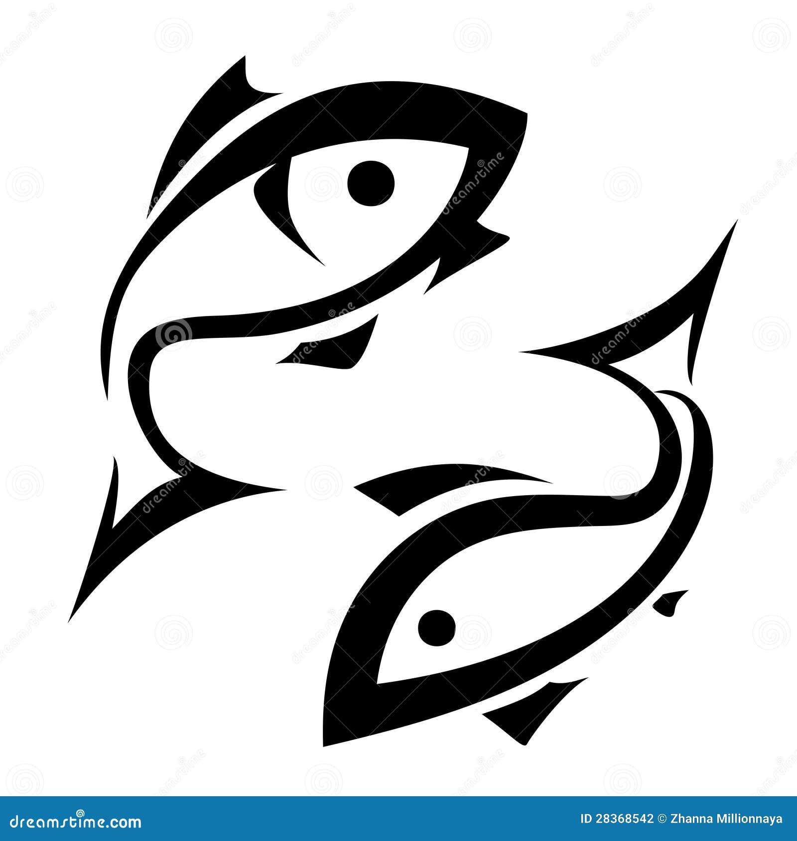 Logo Like Fish Symbol Stock Vector Illustration Of Stylized 28368542