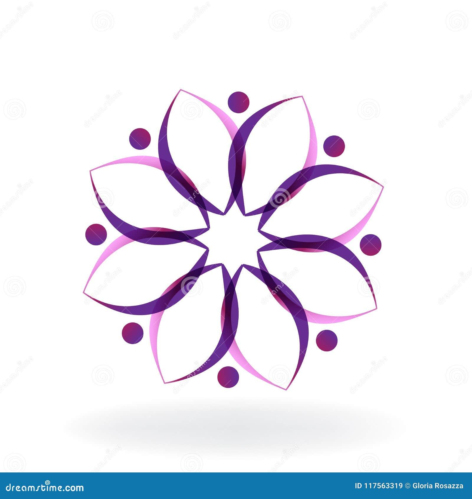 Logo lotus flower yoga teamwork vector image illustration graphic logo lotus flower yoga teamwork vector image illustration graphic design izmirmasajfo