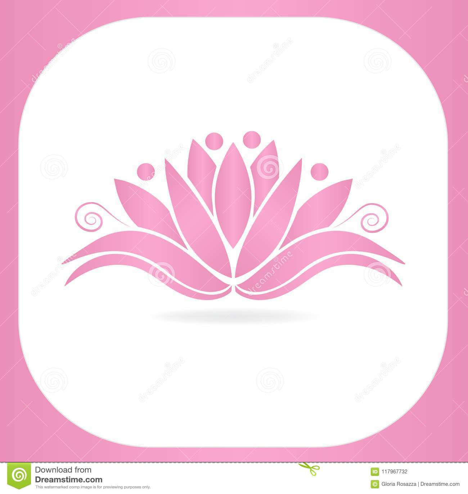 Logo Lotus Flower Yoga Teamwork Vector Image Illustration Graphic