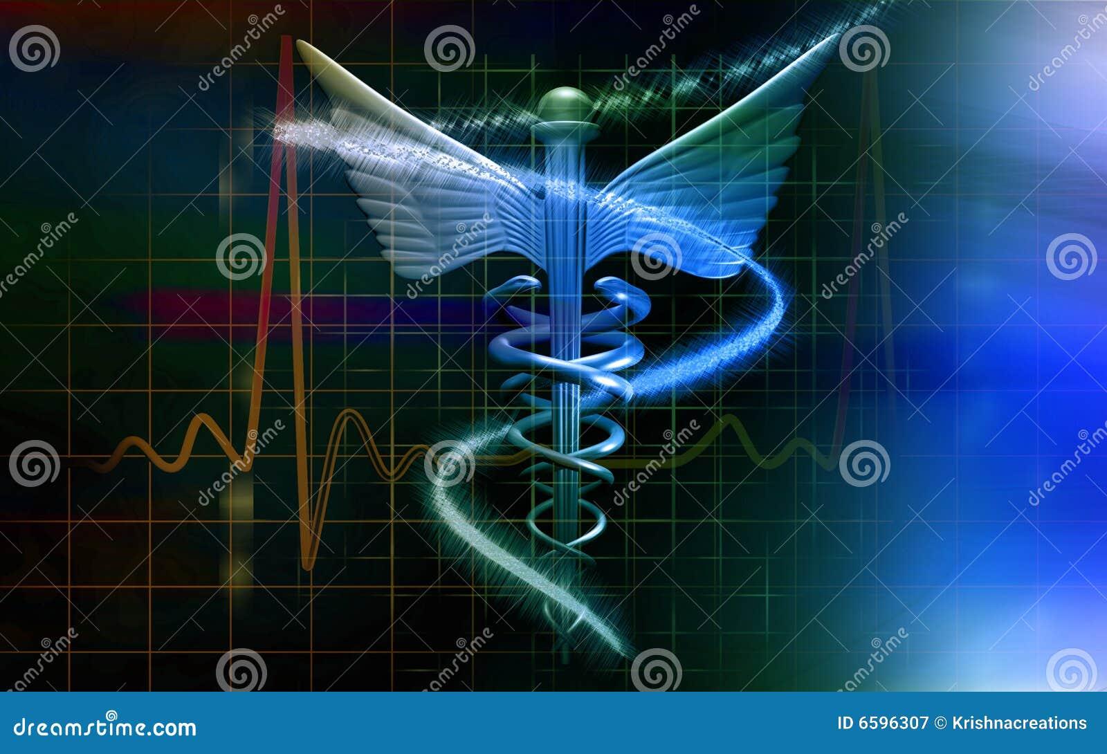 Logo médical dans la couleur bleue