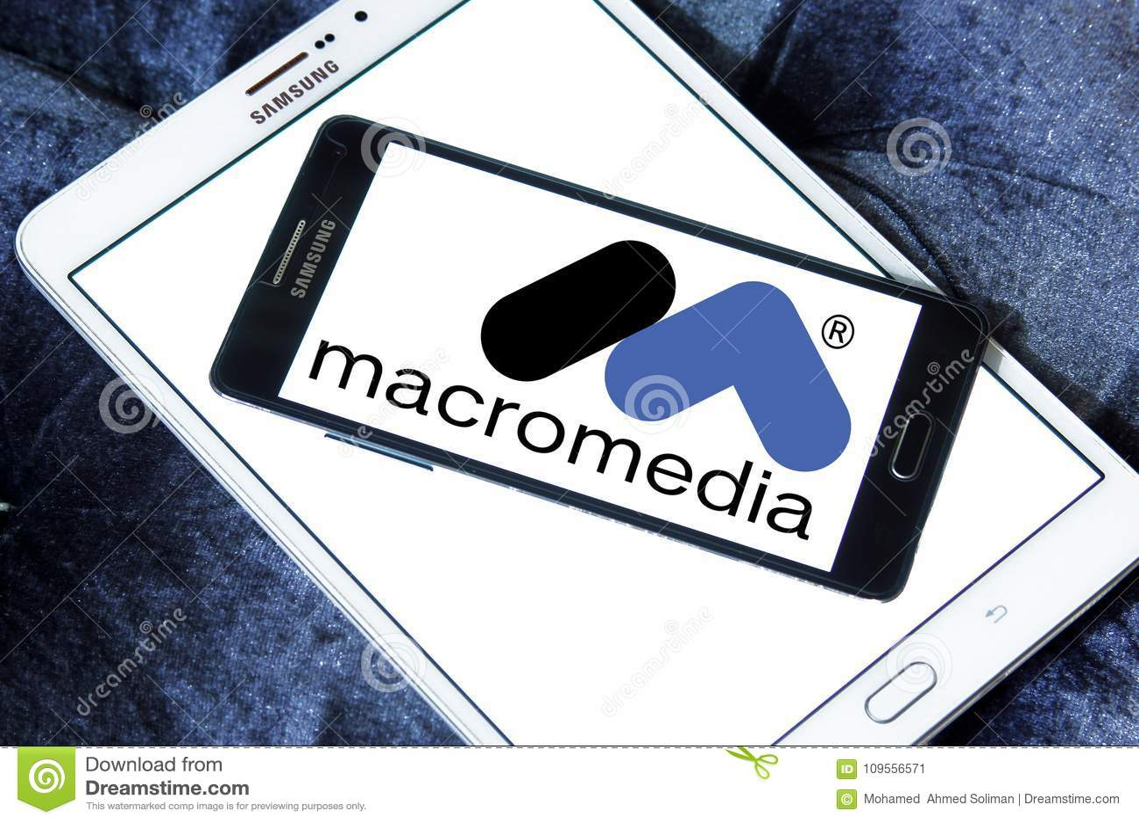 Macromedia Software Company Logo Editorial Photo - Image of