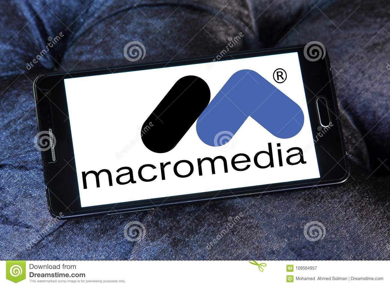 Macromedia Software Company Logo Editorial Photography - Image of