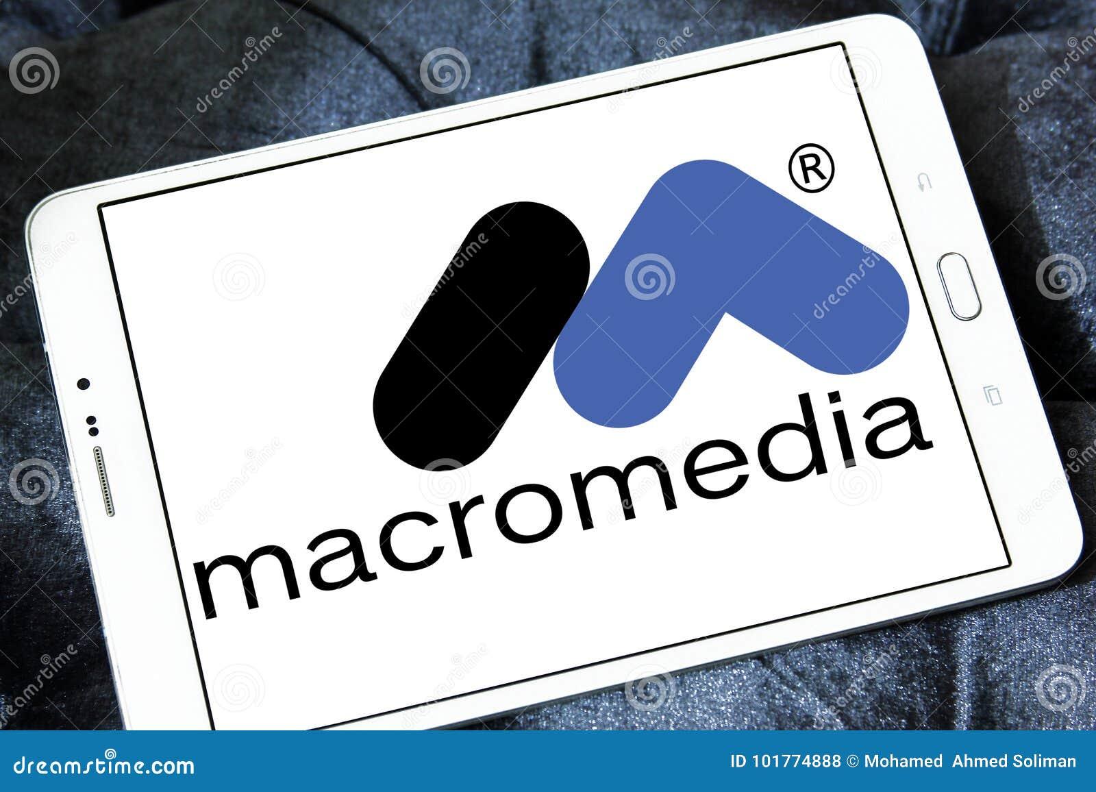 Macromedia Software Company Logo Editorial Stock Photo - Image of
