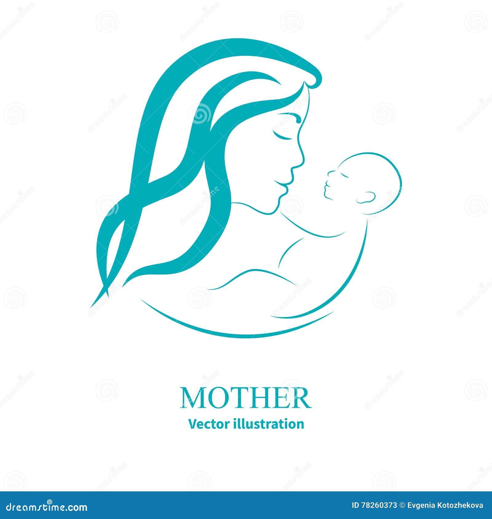 Logo mama i nowonarodzony dziecko