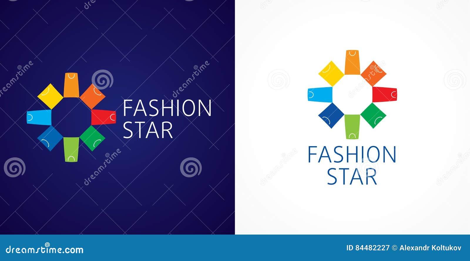 Logo marcante a caldo di vettore della stella di modo